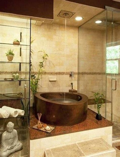 interior relaxing zen bathroom with interior