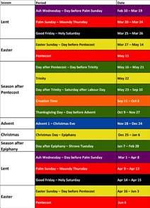 lent colors liturgical colours sjruc
