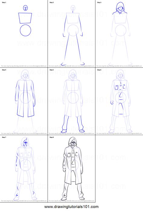 how to draw scrooge from guilty crown printable step by