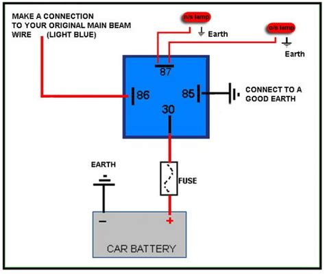automotive relay wiring wiring diagrams wiring diagram