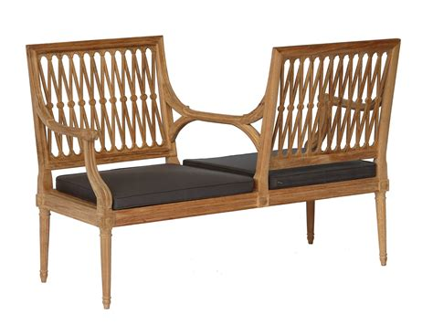 2 seater garden sofa 2 seater teak garden sofa serpentine collection by astello