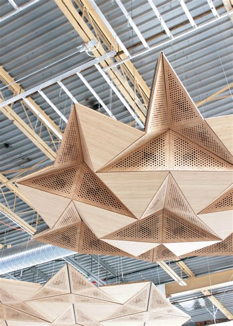 Origami Architecture - rvtr resonant chamber origami architectural acoustic panels