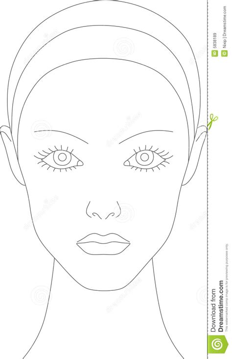 makeup chart template best photos of blank makeup template with closed