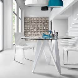 table de salle 224 manger ronde en verre lapo design moderne