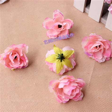 5 Floral Items To 3 5cm small fabric artificial silk hibiscus flower heads
