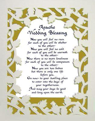 Wedding Blessings Modern by Apache Wedding Words