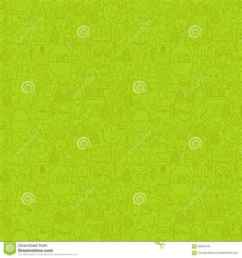 green pattern website thin line happy easter green seamless pattern stock vector