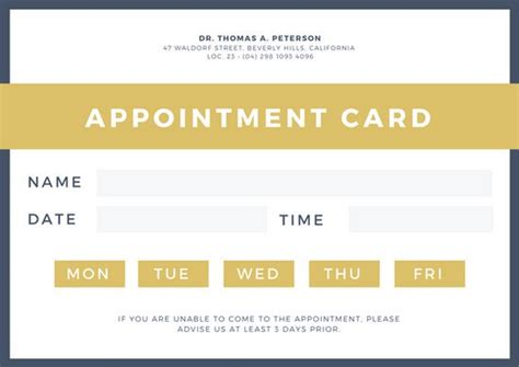 Canva Business Card Templates by Customize 31 Appointment Card Templates Canva