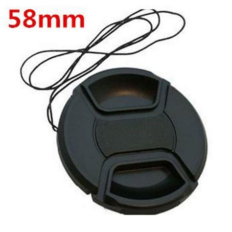 Lens Cap Universal 58mm מוצר black universal digital 58mm slr lens cover