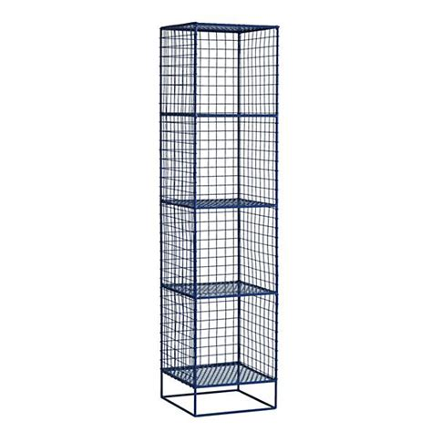 on the grid 4 cube bookcase navy the land of nod
