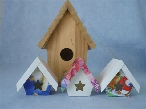 birdhouse templates cards pinwheel ponders birdhouses from greeting cards