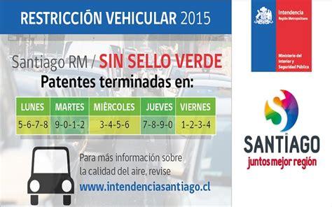 Calendario Restriccion Con Sello Verde Intendencia Metropolitana Extendi 243 Alerta Ambiental Para