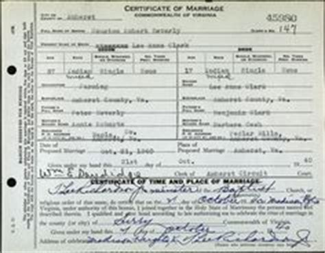 Marriage Records Houston Page From Dawes Rolls Index Researching American Indians