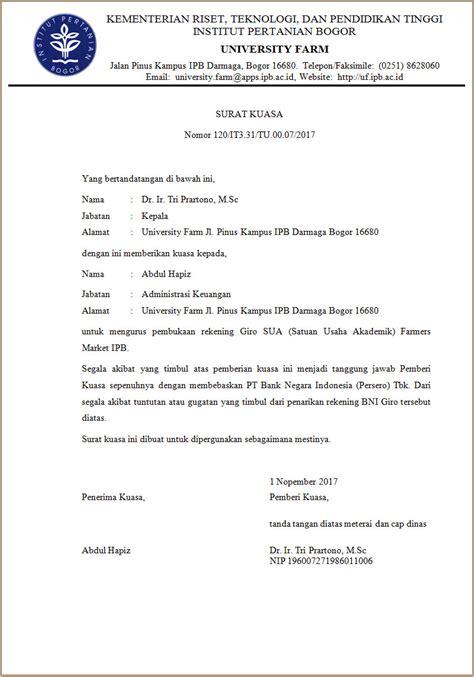 contoh format surat penurunan kuasa surat kuasa anita s personal blog