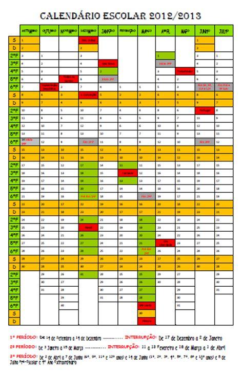 Calendario Escolar 2013 Os Meninos Da C Calend 193 Escolar 2012 2013