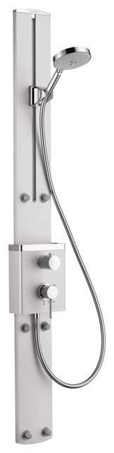hansgrohe bathroom accessories hansgrohe 27005001 raindance showerpanel in chrome