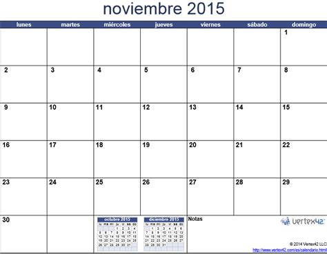 Calendario Noviembre Calendario Noviembre 2015 Coloring Pages