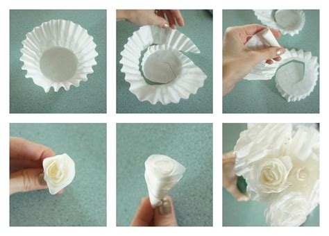 How To Make Paper With Coffee - diy coffee filter roses pictures photos and images for