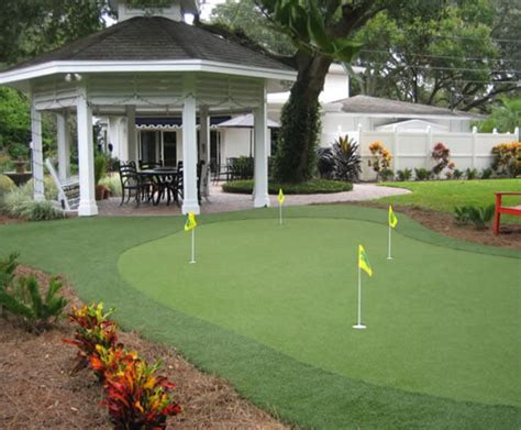 28 Outdoor Indoor Putting Greens Mats Designs Ideas Backyard Putting Green Designs