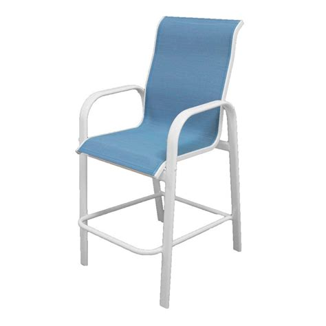 white aluminium outdoor dining chairs marco island white commercial grade aluminum bar height
