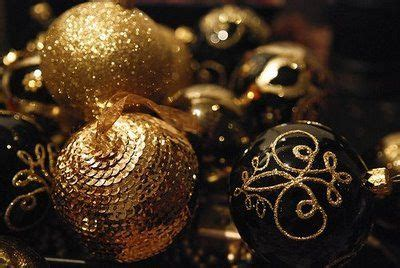 black and gold christmas ornaments christmastime pinterest