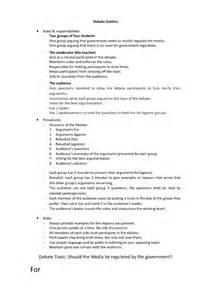 Debate Essay Outline by Research Paper Debate