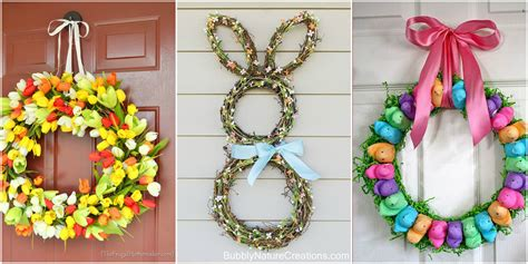 spring wreath ideas to make 13 diy easter wreaths to make homemade easter door