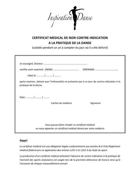 Modele Certificat Danse certificat danse par christelle page 1 1