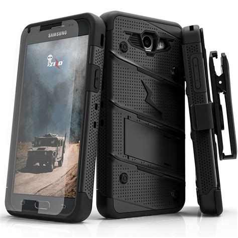 Samsung J7 Prime Army Casing Cover Armor Tentara Abri Lore galaxy j7 prime 2017 zizo bolt w screen protector holster and kickstand ebay