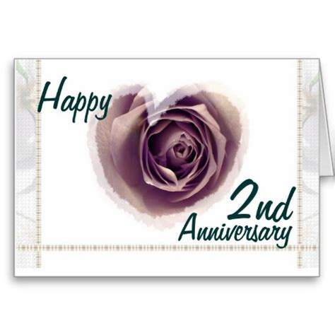 2nd Anniversary Wedding by Happy 2nd Marriage Anniversary Cards Www Pixshark