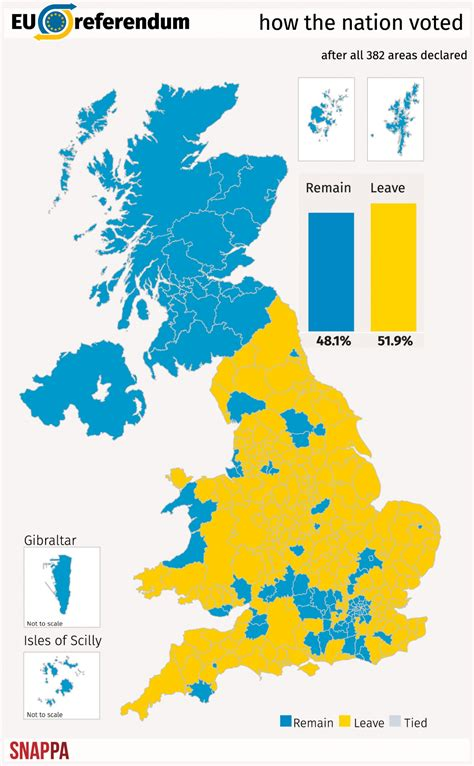 map uk remain leave the story of how we voted to leave the eu in five maps and