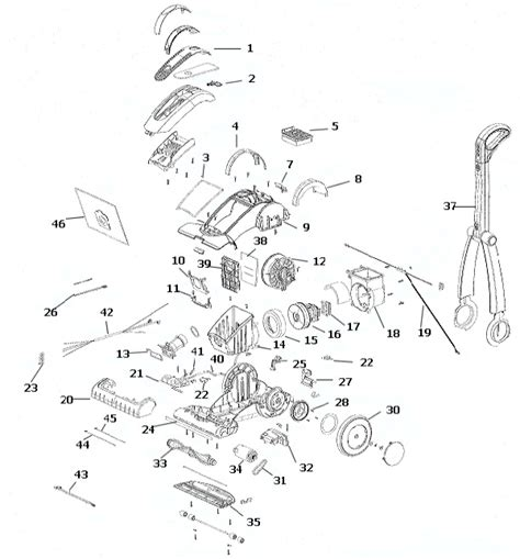 roomba parts diagram electrolux el5020a az azx intensity vacuum parts