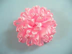 ribbon flowers diy ribbon flower brooch make it in 10 minutes bead cord