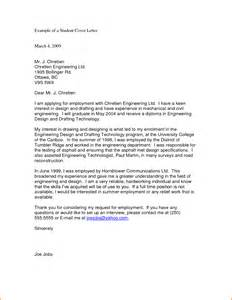Cover Letter Exles College Students by 8 Cover Letter For College Student Budget Template Letter