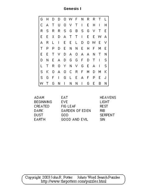 genesis word s word search puzzles genesis1