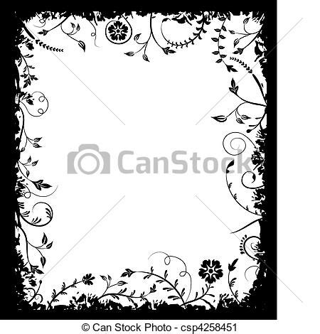 grunge page with floral border stock illustration illustration of fashioned aged 2582659 grunge frame flower elements for design vector vector clip search illustration