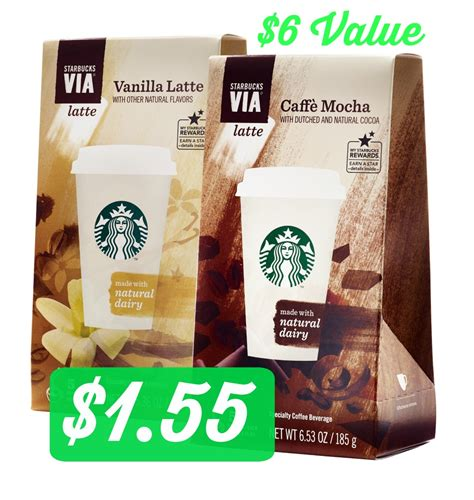 Starbucks Gift Card Via Facebook - target 1 55 starbucks via instant coffee 6 value
