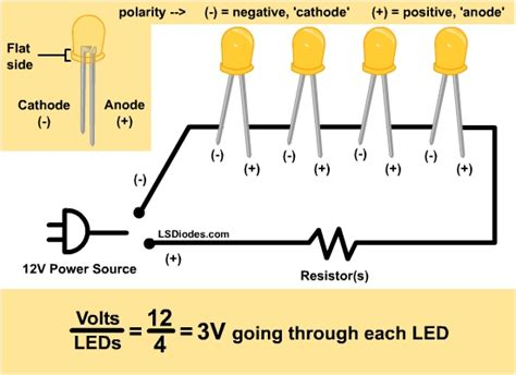 resistors in series with led led series wiring