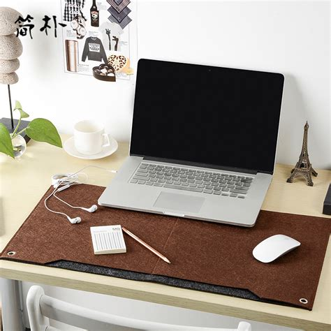Computer Desk Pad Brown Home Office Computer Desk Pad Keyboard Mouse Mat