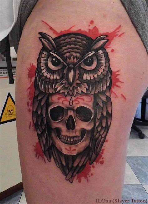 owl head tattoo owl skull tattoos designs ideas and meaning tattoos for you