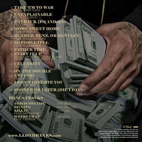 lloyd banks song list lloyd banks the hunger for more 2 back cover track