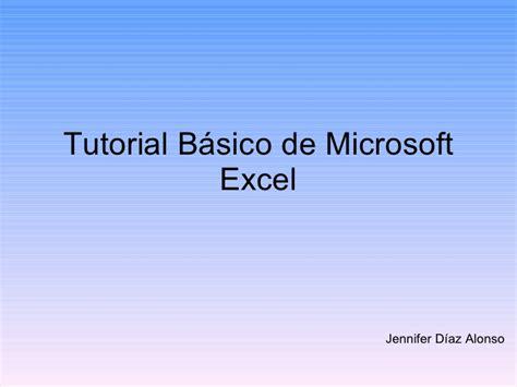 tutorial excel slideshare tutorial de microsoft excel