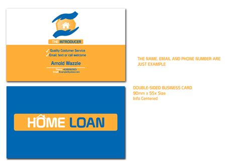 17 Home Loan Business Cards Modern Exklusiv Business Card Design For David Marks By