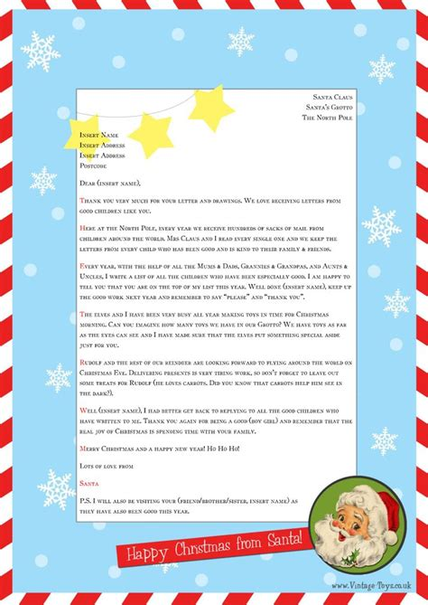 Free Christmas Letter Templates With Picture Insert 10 Best Letters From Santa Images On Free Letter Templates With Picture Insert