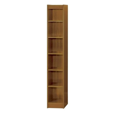 6 Inch Wide Bookcase 12 Inch Wide 6 Shelf Veneer Baby Bookcase In Medium Oak