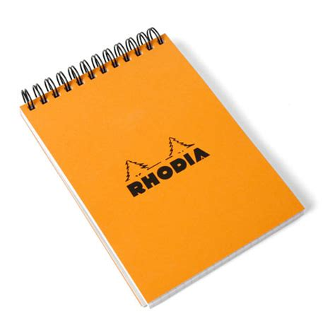 Mood Color Spiral Ruled Notepad rhodia top spiral bound no 13 notepad 4 x 6 eco paper