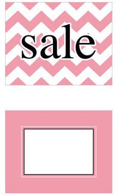 Chevron Gift Card Locations - large boutique pink chevron sign cards store supply warehouse