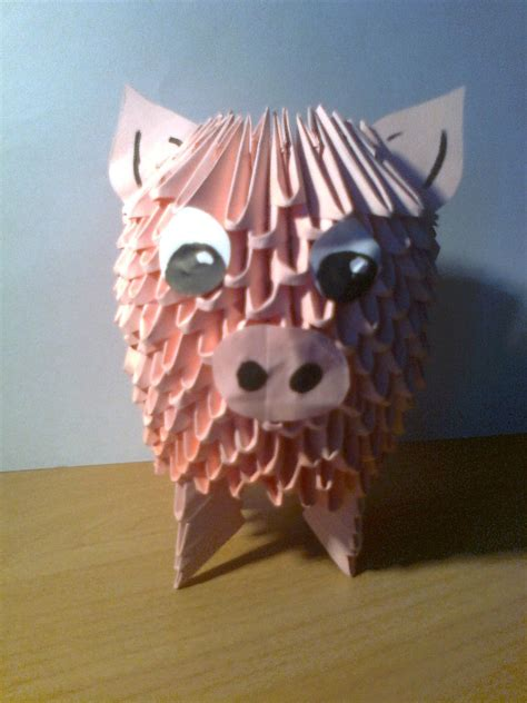 origami 3d pig tutorial 3d origami pig by michaelle111 on deviantart