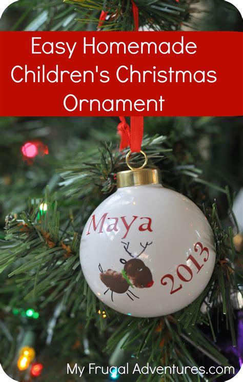 Child Handmade Ornament - diy children s ornament my frugal adventures