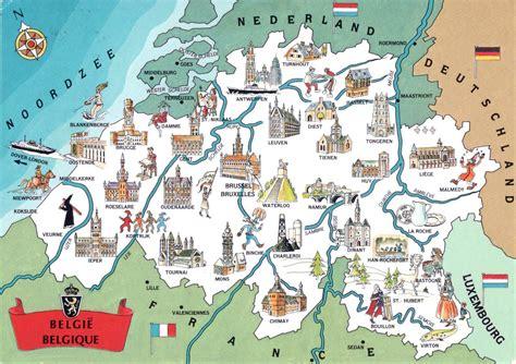 map brussels belgium large detailed tourist illustrated map of belgium